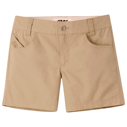 W stretch poplin short khaki