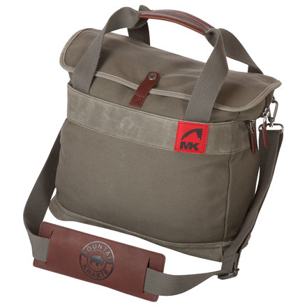 Canvas breifcase dark olive