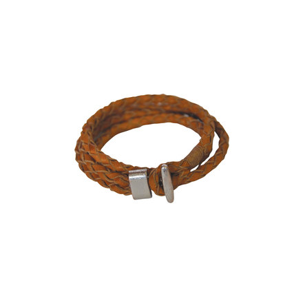 Jewelry double loop braided leather bracelet peanut