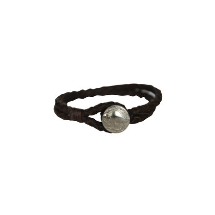 Jewelry braided leather buffalo nickel bracelet