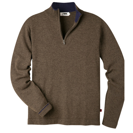 M lodge qtr zip sweater coffee
