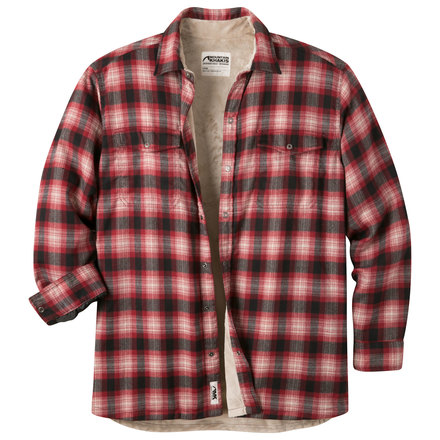 M christopher fleece lined shirt cardinal