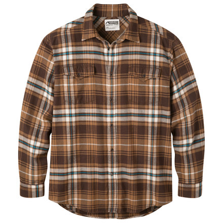 M teton flannel shirt tobacco