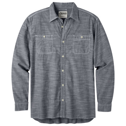 M mountain chambray ls shirt navy