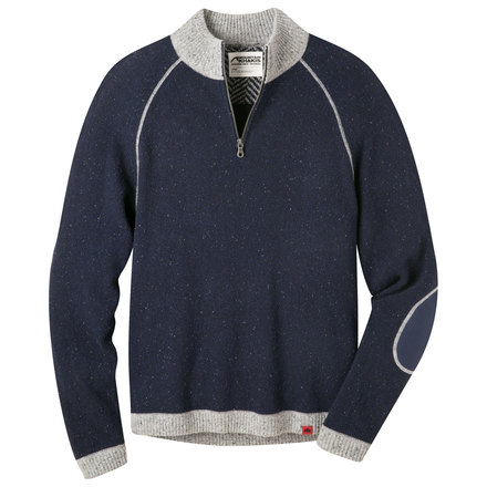 M fleck qtr zip sweater navy