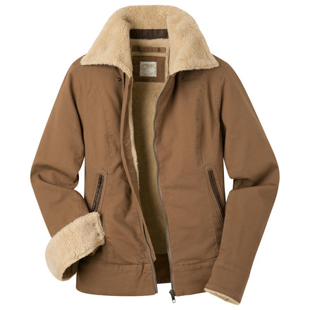 W ranch shearling jacket tobacco