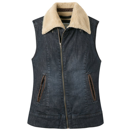 W ranch shearling vest dark demim