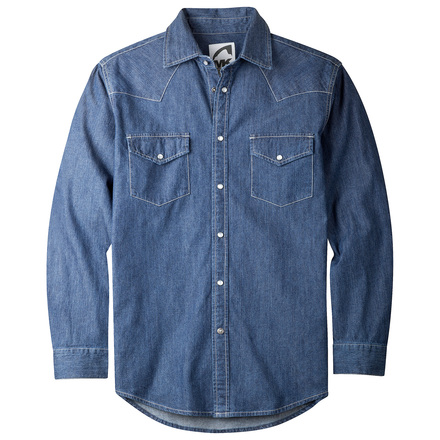 M original mountain denim shirt  dark denim