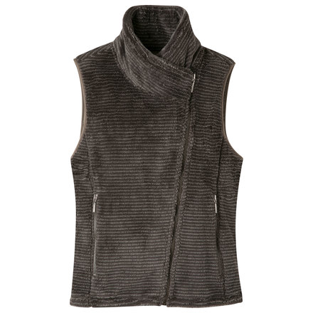 W wonderlust fleece vest coffee