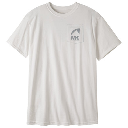 M logo ss pocket t shirt white