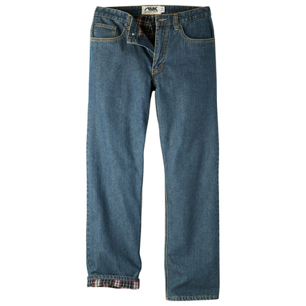 M original mountain jean flannel linned denim
