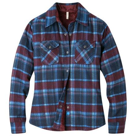 W christi fleece lined shirt navy