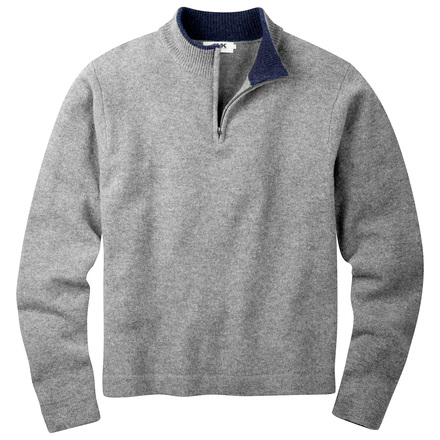 M lodge qtr zip heather gray