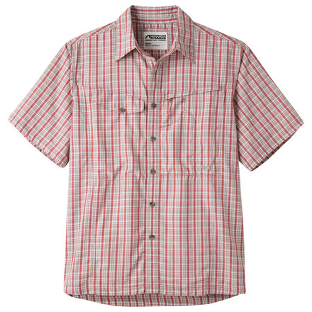 M trail creek ss shirt summer red plaid