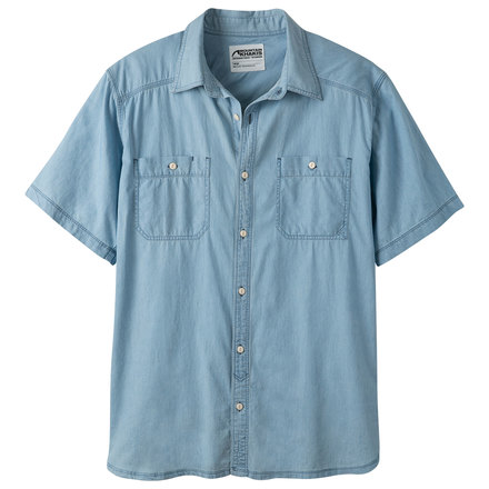 M ace indigo ss shirt light indigo