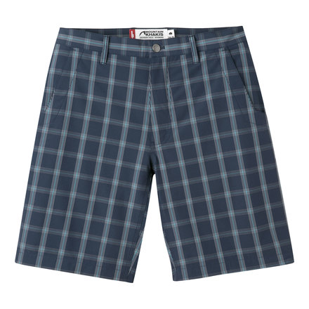 M mulligan short navy plaid