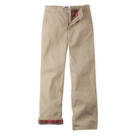 M original mountain pant flannel lined freestone red