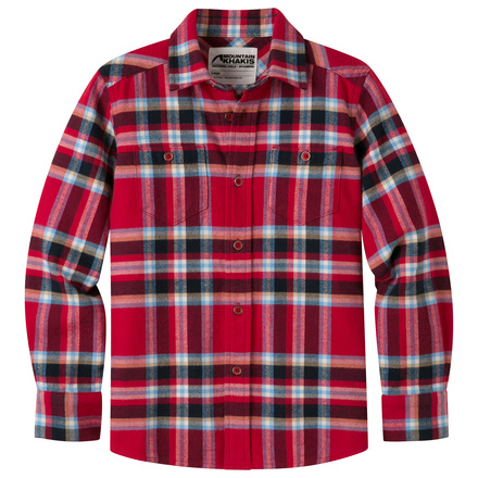 Kids teton flannel shirt cardinal
