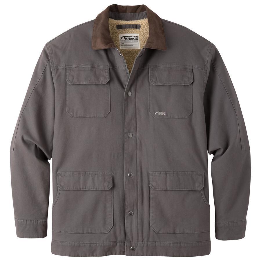 Ranch Shearling Jacket Mens Stretch Canvas Jacket Mk