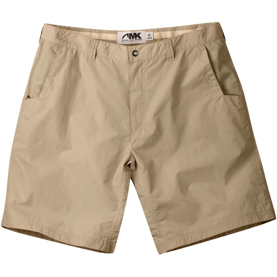 Mens Khaki Shorts. Update a wardrobe with men's khaki shorts. Nothing is quite as versatile as khaki. Khaki shorts are an excellent addition to a man's wardrobe. They can be worn with casual tank tops and T-shirts or dressed up with sweaters and dress shirts for a classy look.