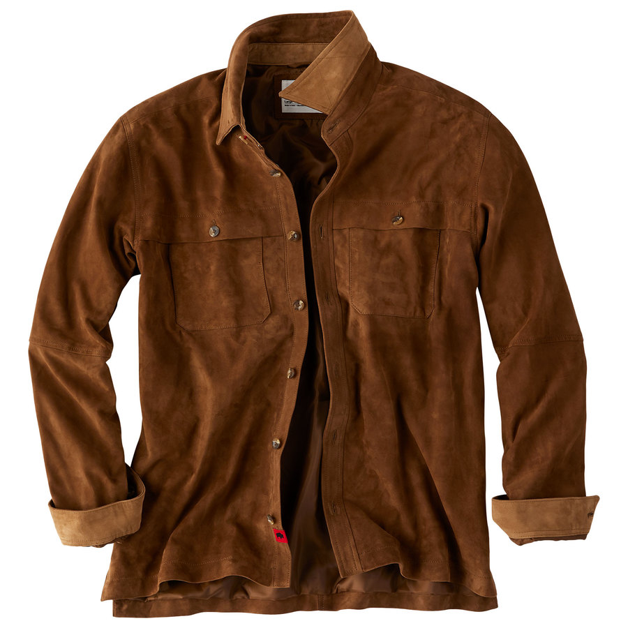 3ad981cc42 Men s Whiskey Suede ShirtjacOnline Exclusive