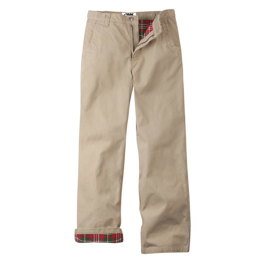 Lined Khaki Pants