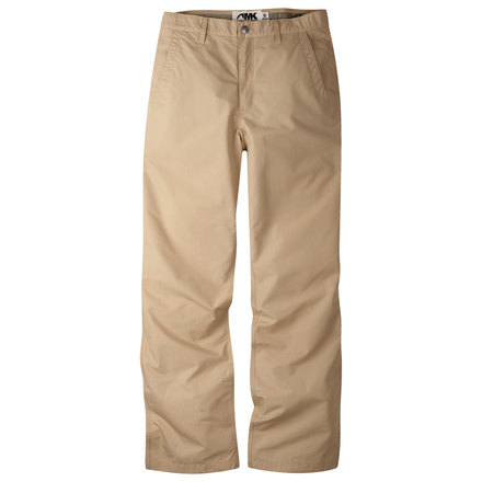 c. khakis Pants made of a twilled cotton fabric of this color or another solid color.
